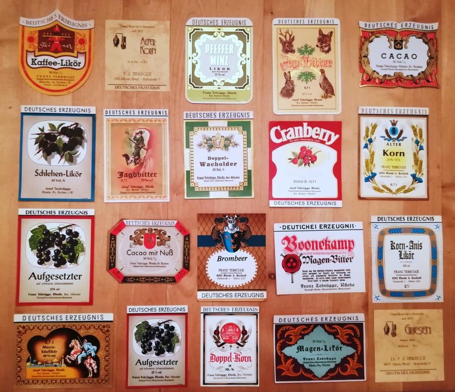 Auswahl an Etiketten